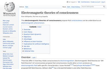 http://en.wikipedia.org/wiki/Electromagnetic_theories_of_consciousness