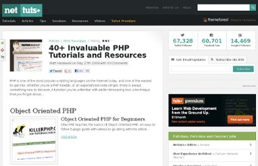 http://net.tutsplus.com/articles/web-roundups/40-invaluable-php-tutorials-and-resources/