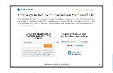 http://www.marketingprofs.com/articles/2010/3929/four-ways-to-deal-with-inactives-on-your-email-list