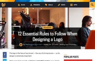 http://www.webdesignerdepot.com/2009/06/12-essential-rules-to-follow-when-designing-a-logo/