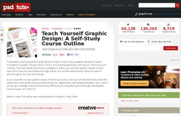 http://psd.tutsplus.com/articles/inspiration/teach-yourself-graphic-design-a-self-study-course-outline/