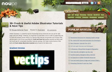 http://www.noupe.com/illustrator/adobe-illustrator-tutorials.html