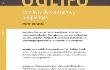 http://www.oulipo.net/document13302.html