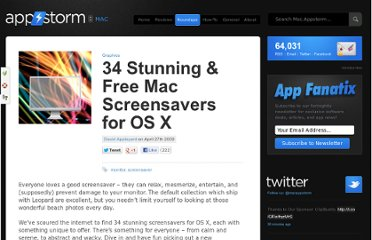 http://mac.appstorm.net/roundups/graphics-roundups/free-mac-screensavers/