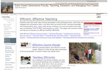 http://serc.carleton.edu/NAGTWorkshops/earlycareer/teaching/index.html