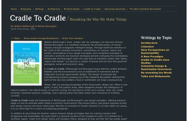http://www.mcdonough.com/cradle_to_cradle.htm