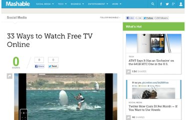 http://mashable.com/2007/06/18/33-ways-to-watch-free-tv-online/