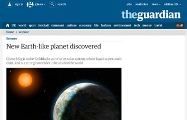 http://www.guardian.co.uk/science/2010/sep/29/earth-like-planet-gliese-581g