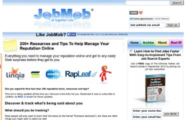 http://jobmob.co.il/blog/online-reputation-management-resources-tips/