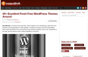 http://www.instantshift.com/2009/09/02/45-excellent-fresh-free-wordpress-themes-around/