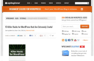 http://www.wpbeginner.com/wp-tutorials/15-killer-hacks-for-wordpress-that-are-extremely-useful/