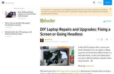 http://lifehacker.com/5650973/diy-laptop-repairs-and-upgrades-fixing-a-screen-or-going-headless