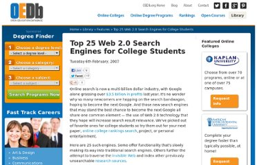 http://oedb.org/library/features/top-25-web20-search-engines