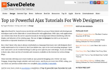 http://savedelete.com/top-10-powerful-ajax-tutorials-for-web-designers.html