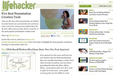 http://lifehacker.com/5648191/five-best-presentation-creation-tools