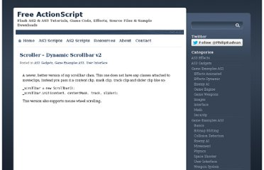 http://www.freeactionscript.com/category/as3-gadgets/