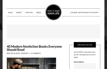 http://www.marcandangel.com/2009/08/24/40-modern-nonfiction-books-everyone-should-read/