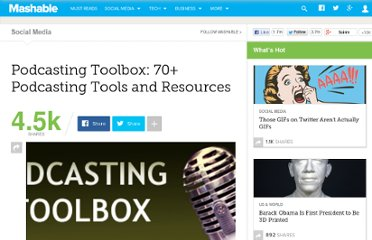 http://mashable.com/2007/07/04/podcasting-toolbox/