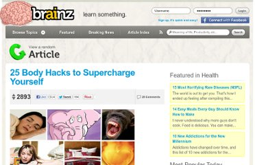 http://brainz.org/25-body-hacks/