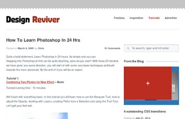 http://designreviver.com/tutorials/how-to-learn-photoshop-in-24-hrs/