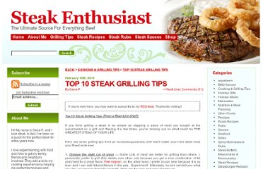 http://www.steak-enthusiast.com/2010/02/top-10-steak-grilling-tips/