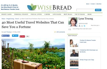 http://www.wisebread.com/travel-resources