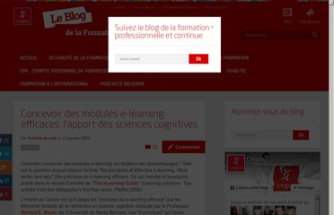 http://www.formation-professionnelle.fr/2009/01/22/concevoir-des-modules-e-learning-efficaces-lapport-des-sciences-cognitives/