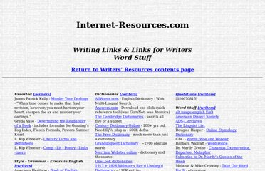 http://www.internet-resources.com/writers/wrlinks-wordstuff.htm