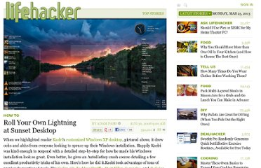 http://lifehacker.com/5043712/roll-your-own-lightning-at-sunset-desktop