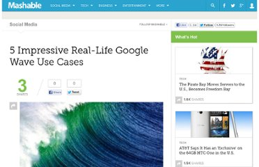 http://mashable.com/2009/11/14/google-wave-use-cases/