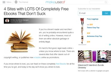 http://www.makeuseof.com/tag/4-websites-with-lots-of-completely-free-ebooks-that-dont-suck-nb/