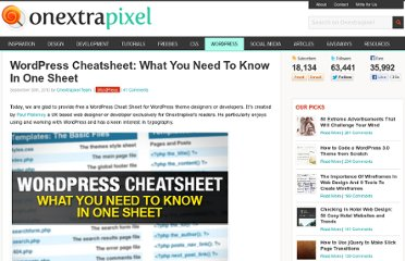 http://www.onextrapixel.com/2010/09/30/wordpress-cheatsheet-what-you-need-to-know-in-one-sheet/