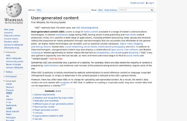 http://en.wikipedia.org/wiki/User-generated_content