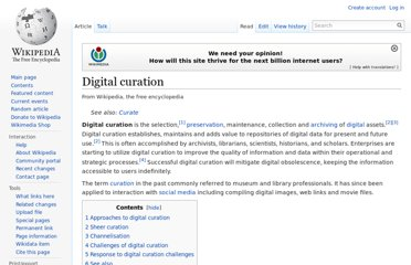 http://en.wikipedia.org/wiki/Digital_curation