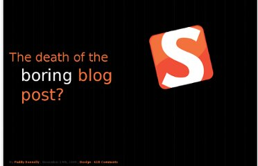 http://www.smashingmagazine.com/the-death-of-the-blog-post/