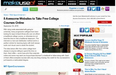 http://www.makeuseof.com/tag/8-awesome-websites-free-college-courses-online/