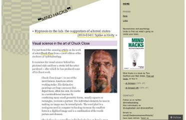 http://mindhacks.com/2010/10/01/visual-science-in-the-art-of-chuck-close/