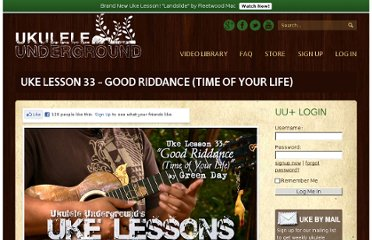 http://ukuleleunderground.com/2010/09/uke-lesson-33-good-riddance-time-of-your-life/
