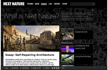 http://www.nextnature.net/2010/06/self%e2%80%93repairing-architecture/