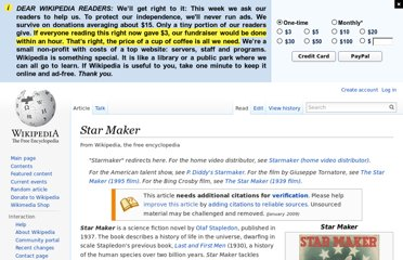http://en.wikipedia.org/wiki/Star_Maker