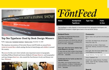 http://fontfeed.com/archives/top-ten-typefaces-used-by-book-design-winners/