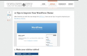 http://wpshout.com/10-tips-to-improve-your-wordpress-theme/
