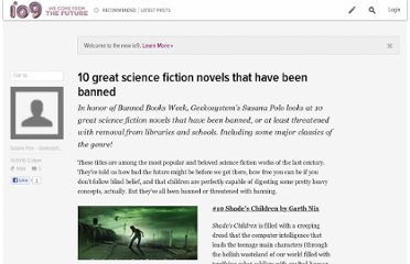 http://io9.com/5653504/10-great-science-fiction-novels-that-have-been-banned