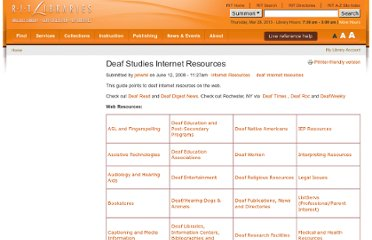 http://library.rit.edu/guides/deaf-studies/internet-resources/deaf-studies-internet-resources.html
