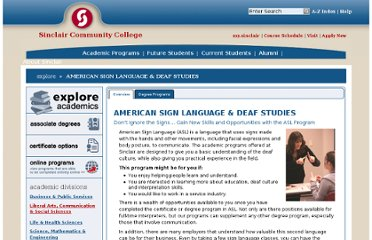 http://www.sinclair.edu/explore/sign-language/