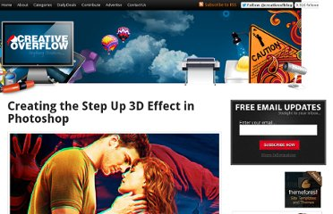 http://creativeoverflow.net/creating-the-step-up-3d-effect-in-photoshop/