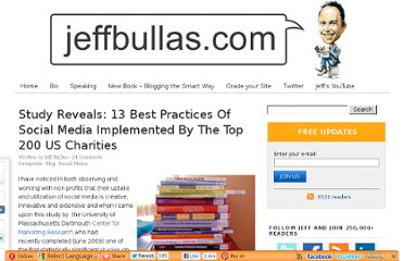 http://www.jeffbullas.com/2009/11/23/study-reveals-13-best-practices-of-social-media-implemented-by-the-top-200-us-charities/