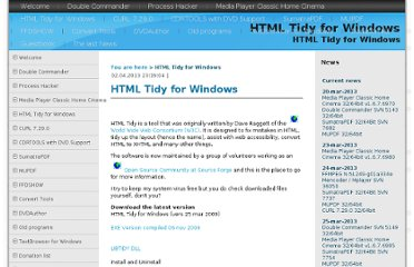 http://www.paehl.com/open_source/?HTML_Tidy_for_Windows