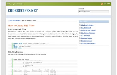 http://www.coderecipes.net/how-to-create-sql-view.aspx