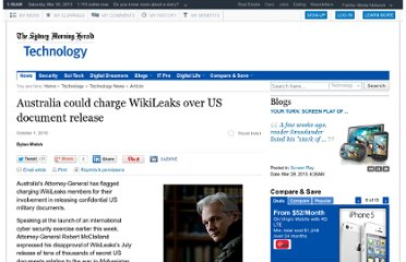 http://www.smh.com.au/technology/technology-news/australia-could-charge-wikileaks-over-us-document-release-20100930-15zcb.html